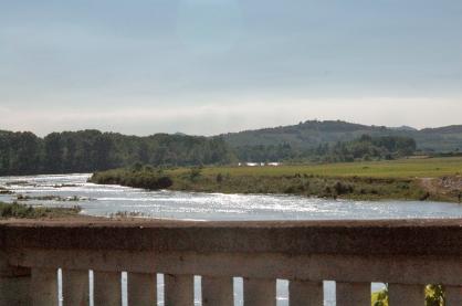 Colline e fiume Po