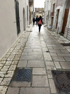 La tipica pavimentazione salentina