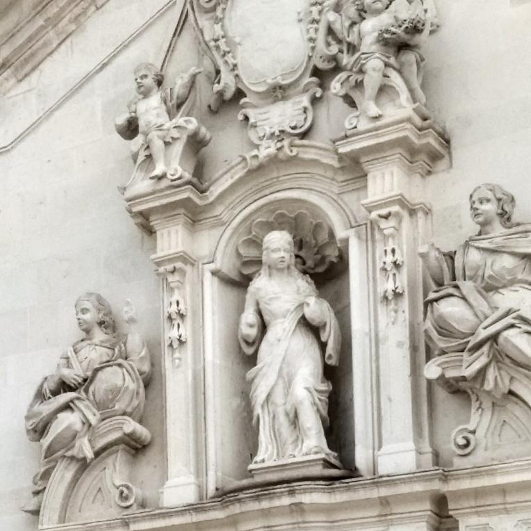 Chiesa di Santa Maria Maddalena: particolare della facciata