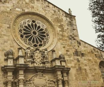 La facciata della Basilica di Otranto